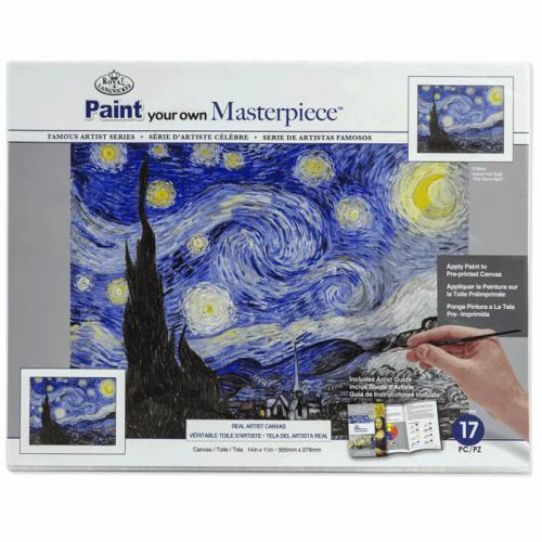Set pictura grisaille POMA4 - Noapte instelata panza pe sasiu Vincent van Gogh