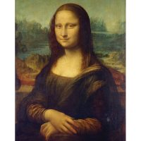 Set pictura pe numere in tehnica grisaille POMA1 - Mona Lisa pictura in culori acrilice pe panza