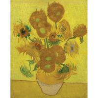 Set pictura grisaille Masterpiece POMA2 - Vaza cu cincisprezece flori ale soarelui