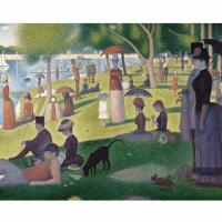 Set pictura grisaille POMA3 - O duminica de vara pe insula Grande-Jatte culori acrilice
