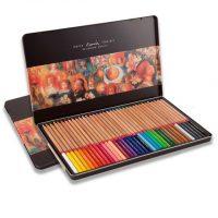Set 36 creioane colorate Marco Renoir Fine Art - cutie metalica grafica si desen