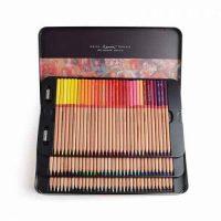 set_100_creioane_colorate_in_caseta_metalica_marco_fine_art