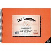 Bloc LANGTON SPIRAL NOT 12X9' 200LB 425G pentru acuarela dimensiunea A4