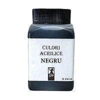 Culori acrilice Combinatul Fondului Plastic 250 ml CFP negru