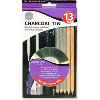 Set creioane si carbuni 13 piese Daler Rowney schite si desen cu DVD inclus