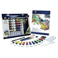 Trusa pictura culori acrilice Essentials 21 de piese RD844L