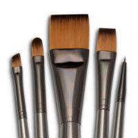 Set 5 pensule fir sintetic seria Zen™ RZEN-SET734 Royal Langnickel
