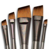 Set 5 pensule fir sintetic seria Zen™ RZEN-SET735 Royal Langnickel angulare
