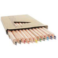 Set 12 creioane colorate Natura