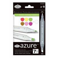 Set markere Royal & Langnickel Azure 7 piese - Botanic Color
