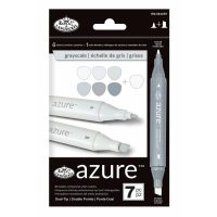 Set markere Royal & Langnickel Azure 7 piese - Grayscale Color