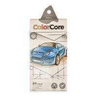 Set 24 creioane colorate + 1 creion grafit, Marco ColorCore, 3100-24CB