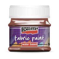 Vopsea-pentru-textile,-Pentart-50ml,-Maro-inchis
