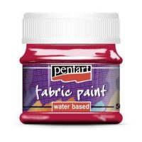 Vopsea-pentru-textile,-Pentart-50ml,-Rosu-carmin