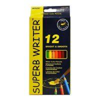 Set 12 creioane acuarela + 1 pensula Superb Writer, Marco