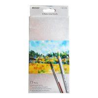 Set 12 creioane acuarelabile + 1 pensula, Marco Raffine