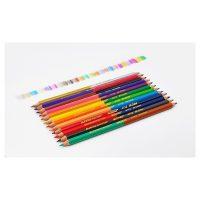 Set 12 creioane colorate cu varf dublu Superb Writer Marco