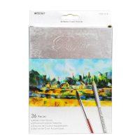 Set 36 de creioane acuarelabile + 1 pensula, Marco Raffine