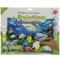 Set-pictura-pe-numere,-Royal-Langnickel,-42---Reef-Sharks