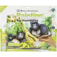 Set-pictura-pe-numere,-Royal-Langnickel,-46-–-Mountain-Gorillas