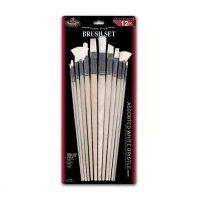 Set 12 pensule mix fir natural White Bristle Royal
