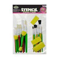 Set 25 pensule pentru sablonare, RART-20, Royal Langnickel
