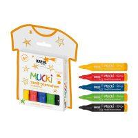 Set 5 markere textile, Mucki, C. Kreul
