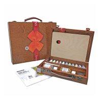 Set culori ulei 11x20ml, cutie lemn si accesorii, Renesans 1