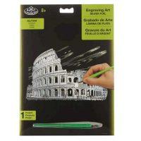 Set gravura cu efect argintiu, Royal Langnickel, Colosseum
