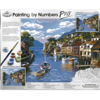 Set pictura pe numere, Royal Langnickel, Pro Kit 04 - Village on the Water