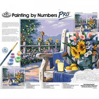 Set pictura pe numere, Royal Langnickel, Pro Kit 05 - Sunflowers and Lemons