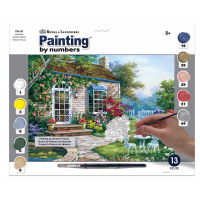 Set pictura pe numere adulti, Royal Langnickel, 45 - Spring Patio