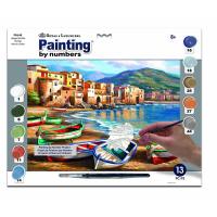 Set pictura pe numere adulti, Royal Langnickel, 46 - Spiaggia della Citta