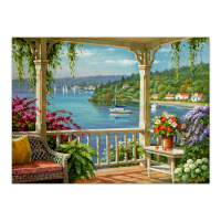 Set pictura pe numere adulti, Royal Langnickel, 48 - Silver Lake Veranda
