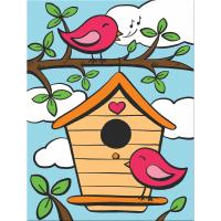 Set pictura pe numere pentru copii, MFP17 Pasari cantatoare