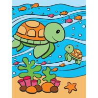 Set pictura pe numere pentru copii, MFP21 Testoase marine