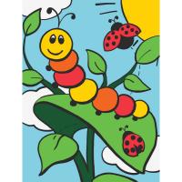 Set pictura pe numere pentru copii, MFP23 Omida si gargarita