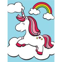 Set pictura pe numere pentru copii, MFP24 Unicorn si curcubeu