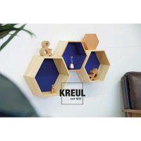 Set 3 cutii de lemn hexagonale, C. Kreul 2
